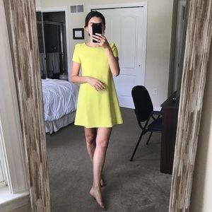 zara citron short sleeve dress